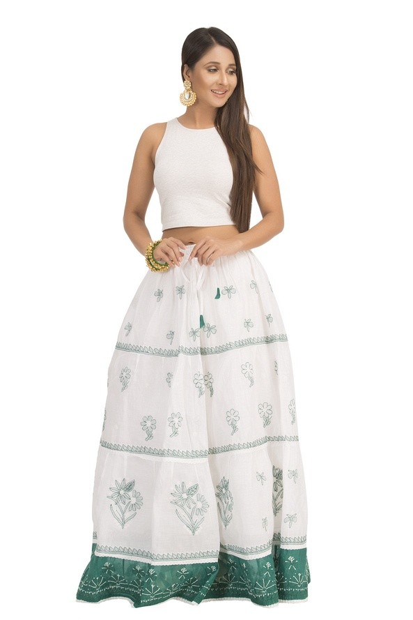 Chikankari skirt